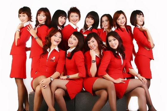 Nhân viên xinh đẹp của AirAsia